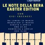 Da questa sera ritorna Le Note della Sera con Gigi Ceccaci fino a Pasqua